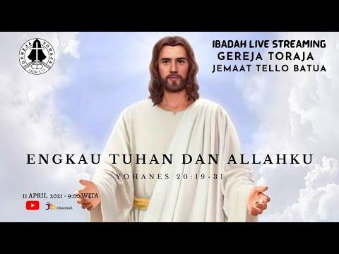 Ibadah Minggu Gereja Toraja Jemaat Tello Batua | Minggu, 11 April 2021 | Live Pukul 09.00 WITA