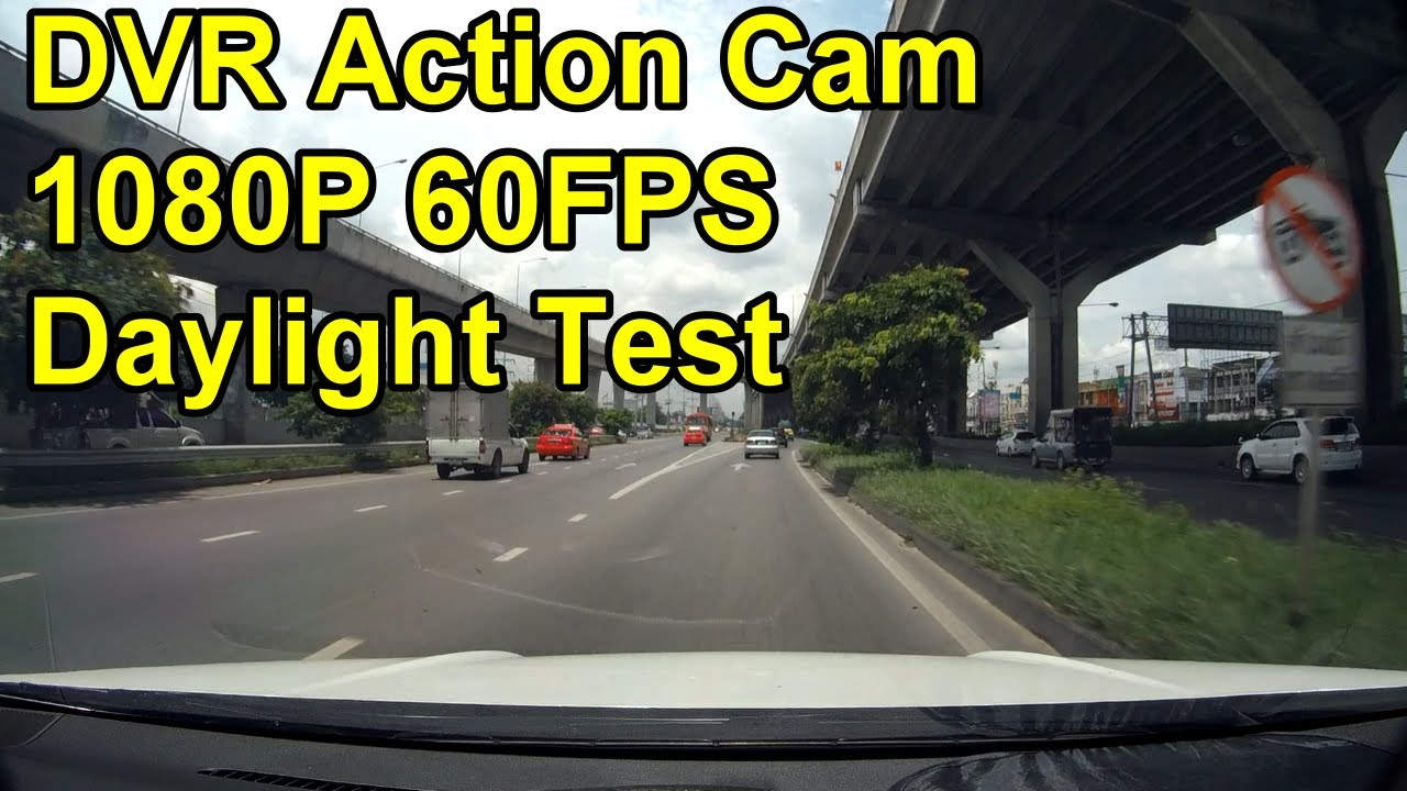 TEST DVR Mode Daylight 1080p 60fps WDR EIS Ambarella A12 A12LS75 Sony  IMX117 Action Cam