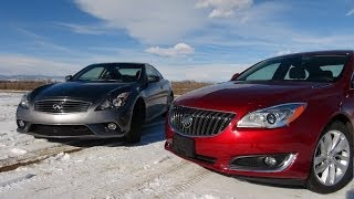 2014 Infiniti Q60 vs Buick Regal Turbo 0-60 MPH Mashup Test
