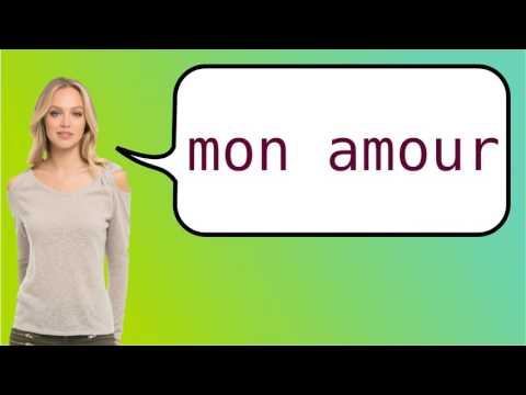 How do you say good morning love in french