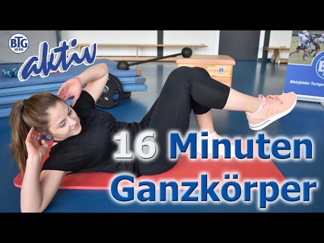 16 Minuten Ganzkörper-Training mit Sabrina