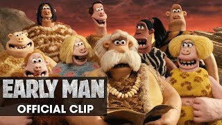"Early Man (2018 Movie) Official Clip ""Group"" - Eddie Redmayne, Tom Hiddleston, Maisie Williams"