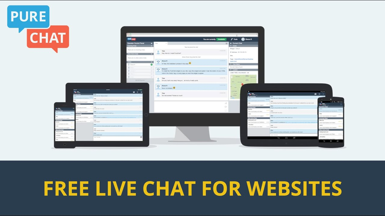 Pure Chat - Free Live Chat for Websites Video - YouTube
