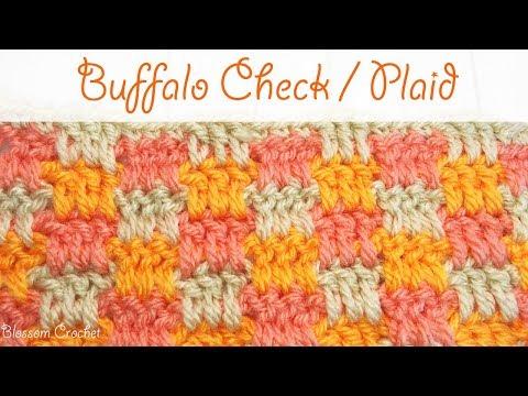 Easy Crochet: Buffalo Check / Plaid Stitch
