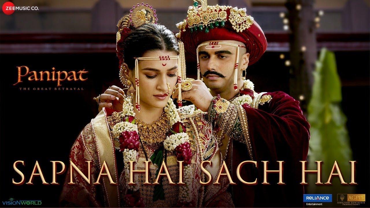 Sapna Hai Sach Hai - Panipat | Arjun Kapoor & Kriti Sanon | Shreya Ghoshal & Abhay J| Ajay-A