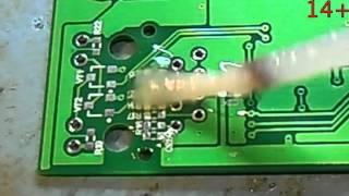 видео Ручная пайка SMD компонентов