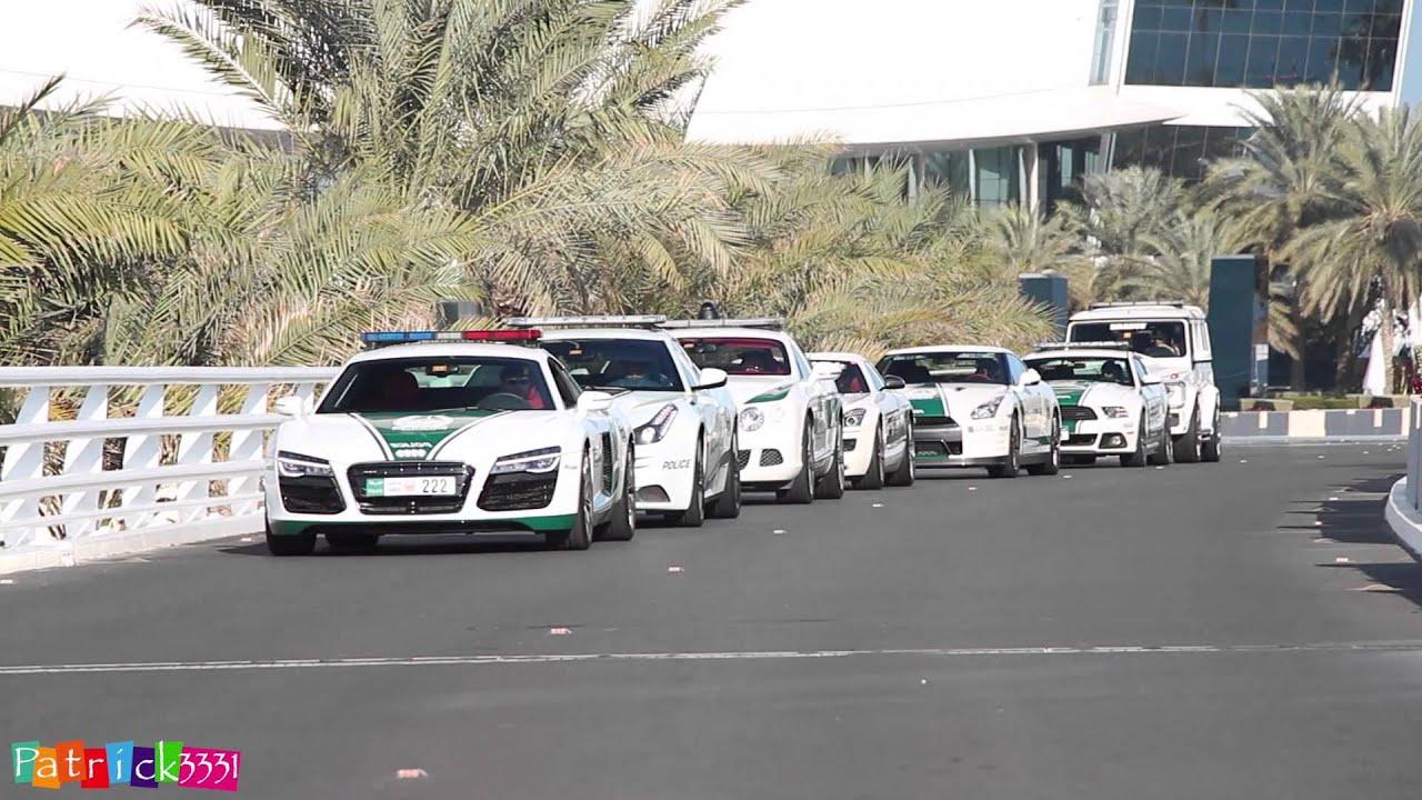 Epic Dubai Police Supercar Fleet At Burj Al Arab Hotel Youtube