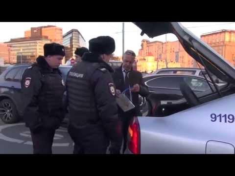 Рейд по выявлению нелегальных таксистов на площади Тверская застава