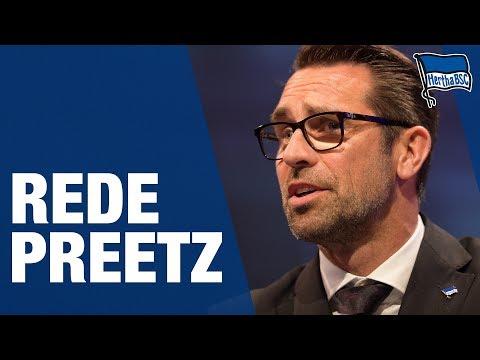 REDE MICHAEL PREETZ MV 2017 - Hertha BSC - Berlin - 2017 #hahohe