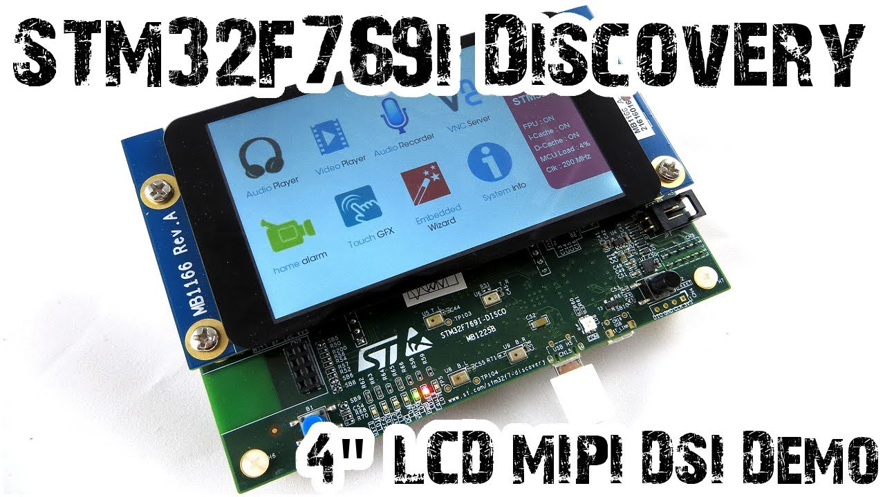 STM32F769i Discovery MIPI DSI Display Demonstration