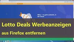 Lotto Deals Werbeanzeigen aus Firefox entfernen