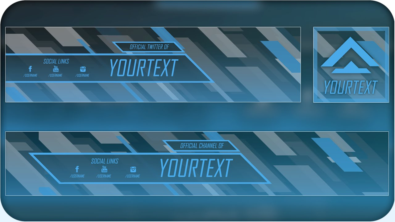 free abstract youtube banner twitter header template psd direct