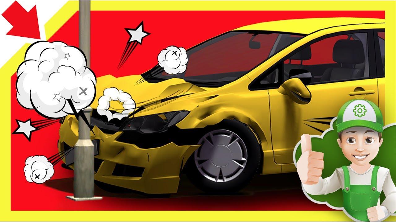 cartoon cars crashing vehicle animation of cars car kids video youtube cartoon truck accident