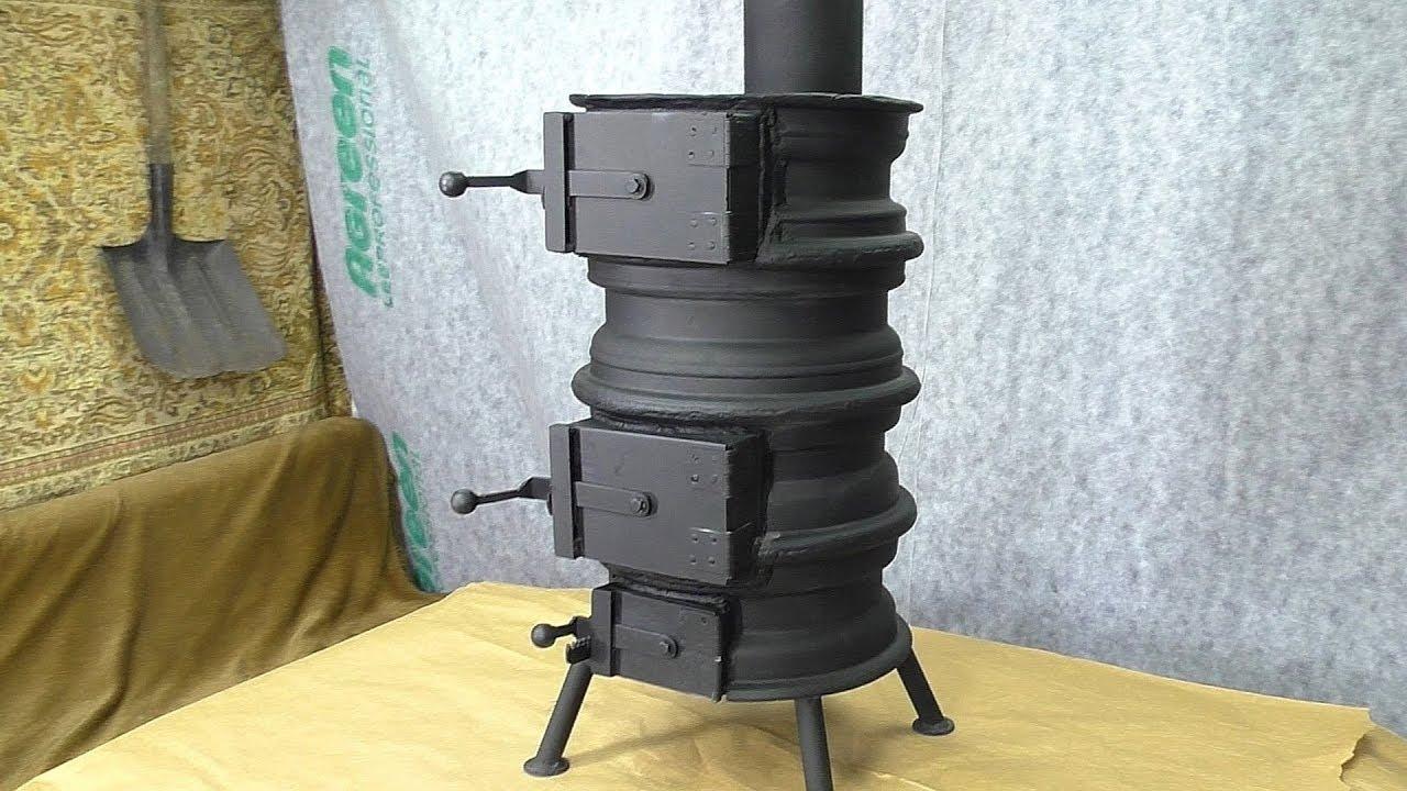 ✅ DIY Wood Stove from CAR RIMS / Fogão a lenha feito de roda de carro / ПЕЧЬ ИЗ АВТОМОБИЛЬНЫХ ДИСКОВ