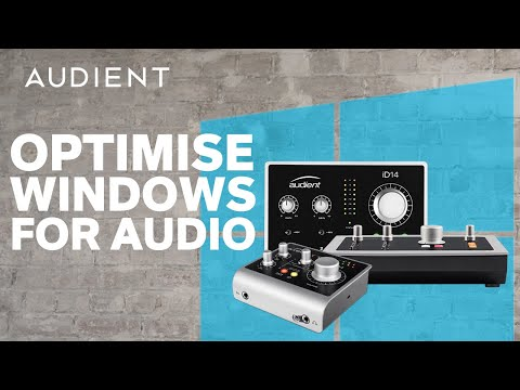 Audient - How to Optimise a Windows PC for Audio Production