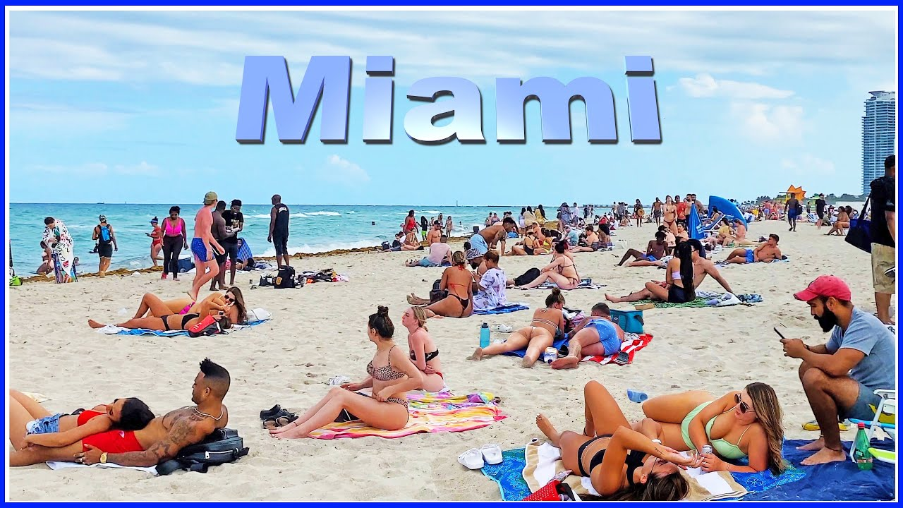 Download 【4K】WALK Miami Beach 2021 FLORIDA USA 4k video travel vlog