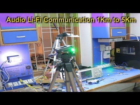 Long distance Lifi communication -Audio