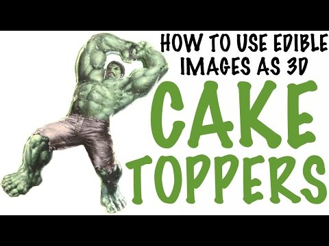 How To Use EDIBLE IMAGES AS CAKE TOPPERS! | Its A Piece Of Cake