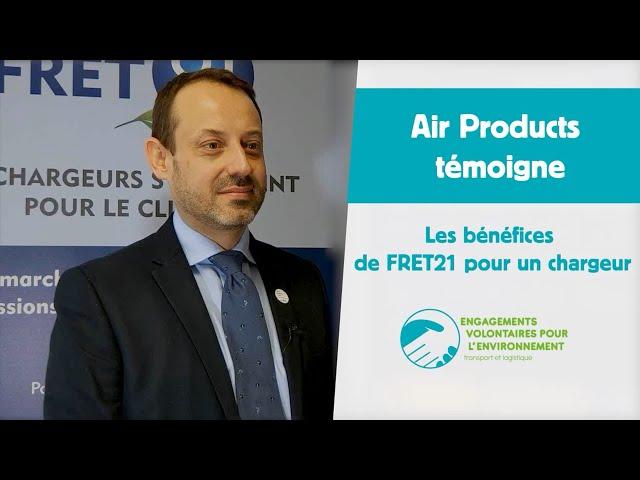Air Products témoigne : les bénéfices de FRET21 pour un chargeur