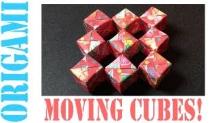 Origami Daily - 239: Sonobe Moving Cube (Modular & No Tape) - TCGames - [HD]