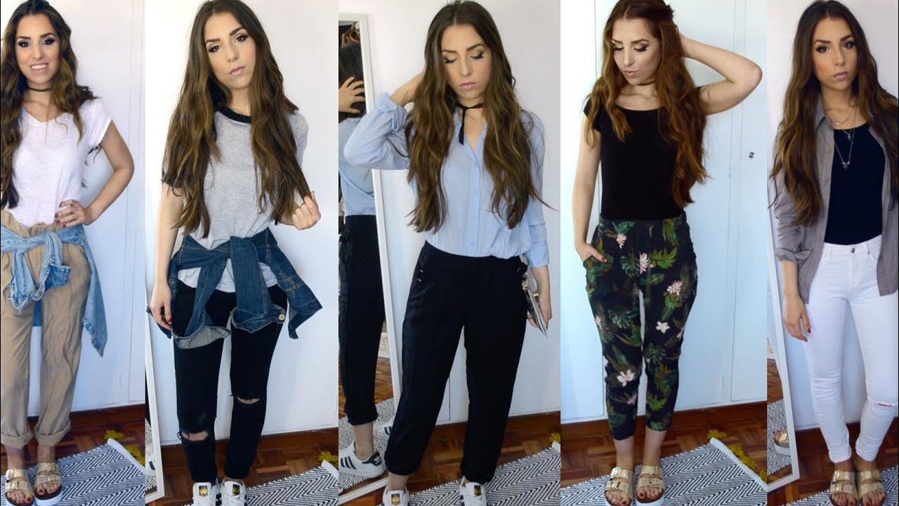 OUTFITS CASUALES SENCILLOS - YouTube