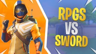 RPGs vs the Sword - Fortnite Summit Striker Skin Gameplay