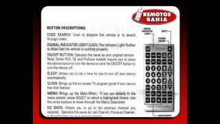 MANUAL PARA PROGRAMAR UN CONTROL REMOTO UNIVERSAL JUMBO QUANTUM FX REM-114 REMOTOS BAHIA