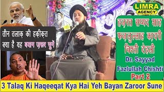 Dr  Sayyad Fazlullah Chishti Part 2,16 March 2018 Kabad Market LKO HD India