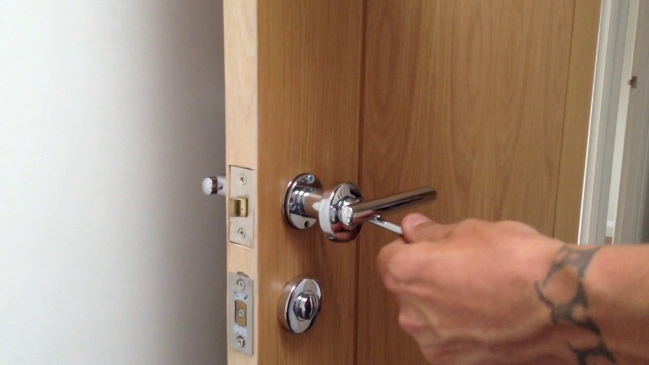 Fixing a loose door handle - YouTube
