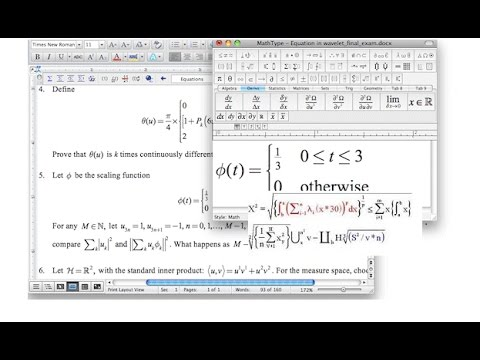 How To Type Math Equation in MSword using Mathtype