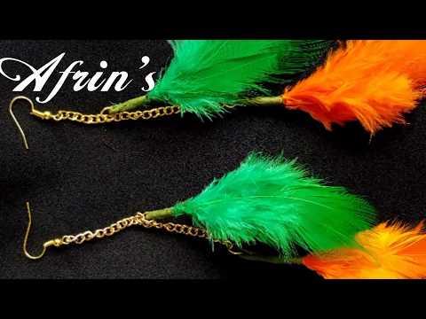DIY Easy Feather Earring Tutorial