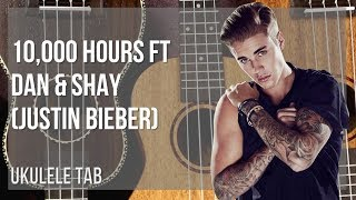 EASY Ukulele Tab: How to play 10,000 Hours ft Dan & Shay by Justin Bieber