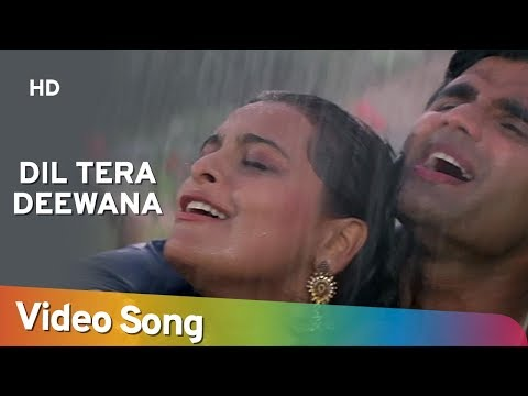 Dil Tera Deewana - Suneil Shetty - Shilpa Shirodkar - Raghuveer - Hindi Song - Rain Dance Song