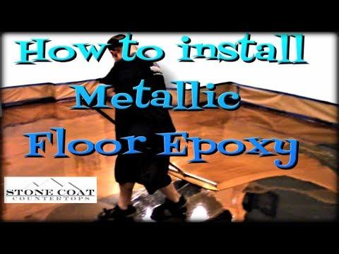 How to Install Metallic Floor Epoxy
