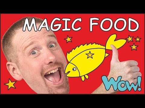 Magic food for kids   English stories for children   Steve and Maggie from Wow English TV
