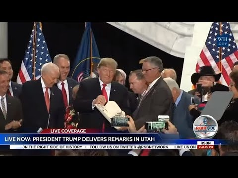 President Trump Speech in Utah to Announce Shrinking of National Monuments  12-4-17