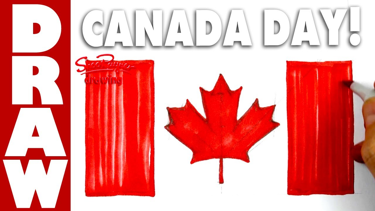 how to draw the flag of canada for canada day youtube