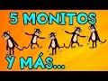 Cinco Monitos   Y muchas más canciones infantiles   ¡54 min de Lunacreciente! #