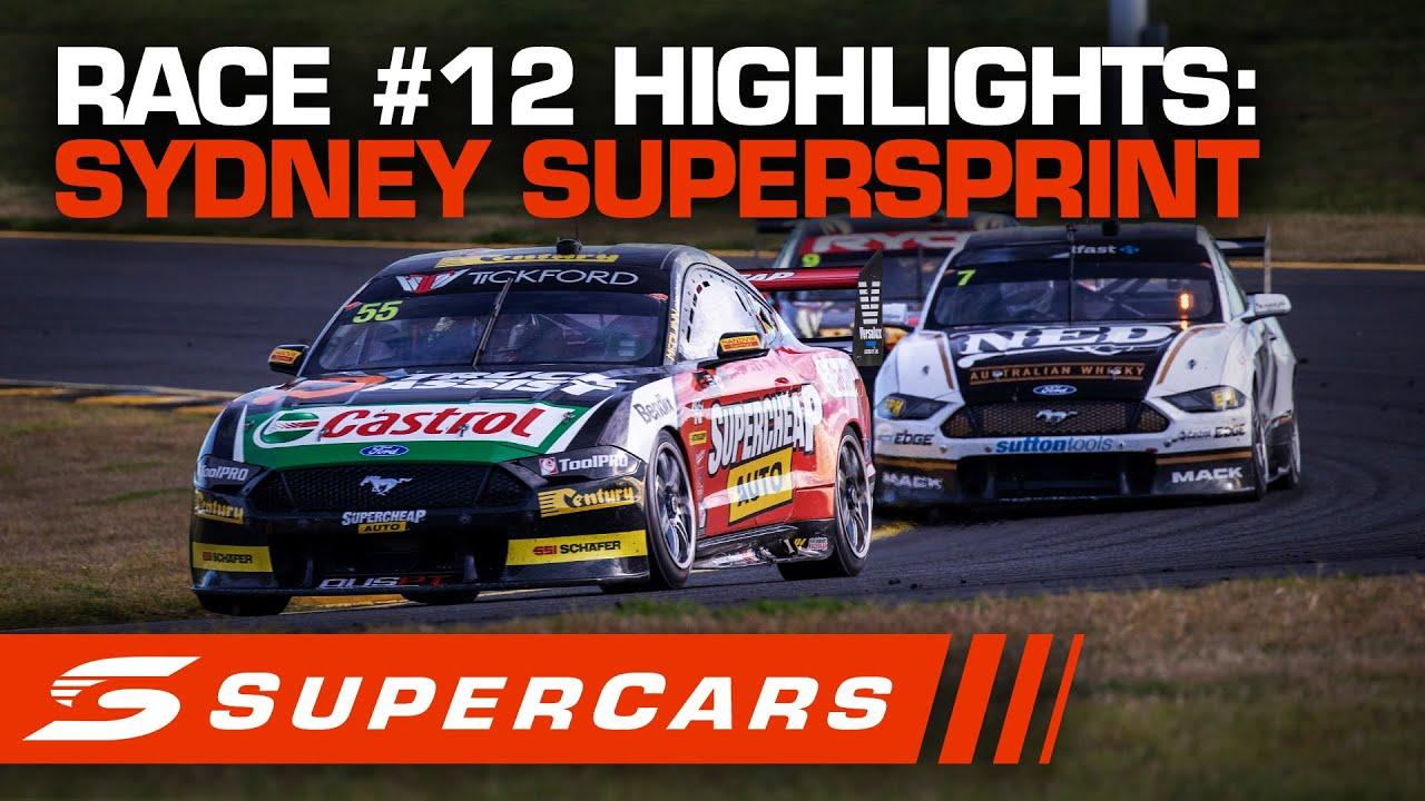 Highlights Race 12 Sydney Supersprint Supercars 2020 Youtube