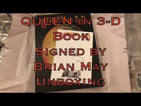 QUEEN in 3-D Book • Signed by Brian May • Unboxing