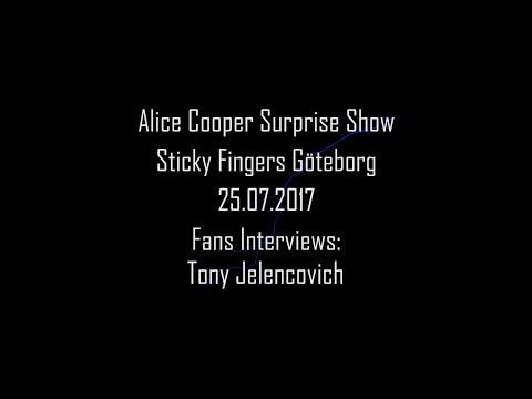Secret Alice Cooper Show Fans Interview: Tony Jelencovich (Transport League) HD
