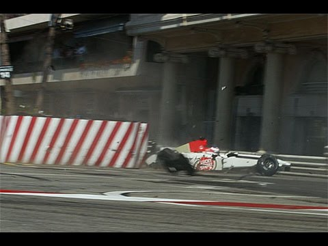 Jenson Button Crash Compilation in F1