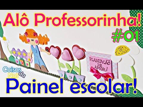 Sala de aula: Painel criativo com diversos materiais - Alô Professorinha!
