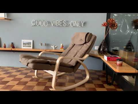 Poltrona Design Shiatsu Relaxmedic.Poltrona Massageadora Shiatsu Lounge Com Pes De Madeira