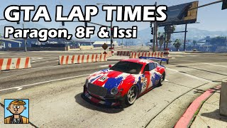 Fastest Sports Cars (Paragon, 8F Drafter & Issi) - GTA 5 Best Fully Upgraded Cars Lap Time Countdown
