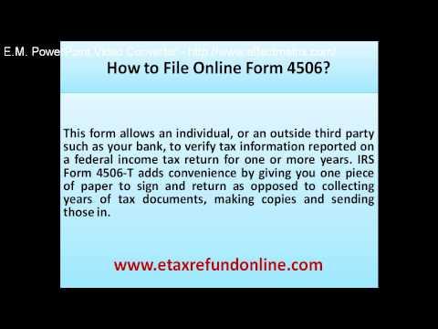 How to file online form 4506 - YouTube