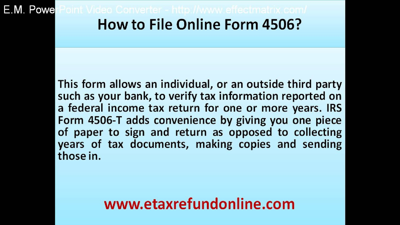 How to file online form 4506 youtube how to file online form 4506 falaconquin