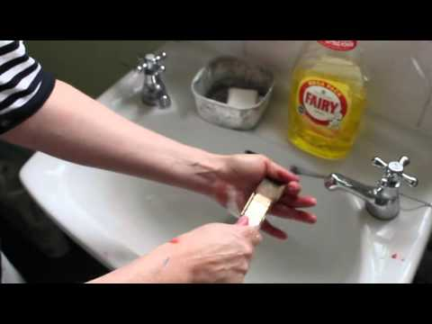 How to Clean Acrylic Painting Brushes