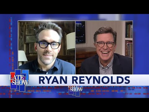 Ryan Reynolds Weighs In On Colbert's Fashion Choices