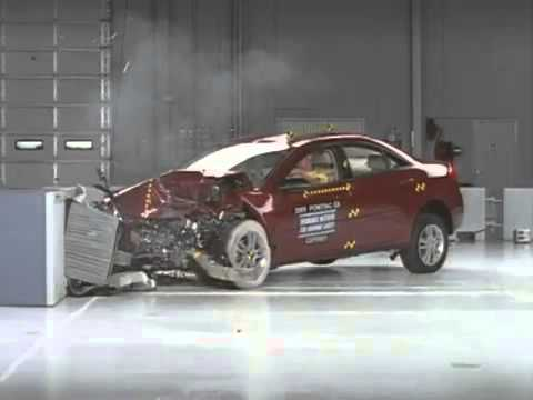 voiture crash test 2005 pontiac g6 moderate overlap test youtube. Black Bedroom Furniture Sets. Home Design Ideas